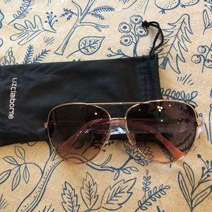 NEW Liz Claiborne Sloane Rose Gold Sunglasses